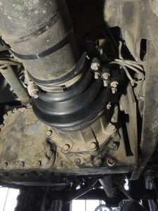 Installed new forward drive shaft boot