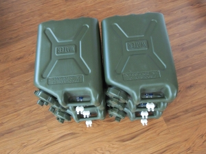 Leak checked water Jerry cans