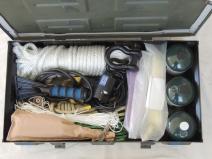 Packed under subframe storage boxes