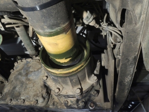 Removed forward drive shaft boot