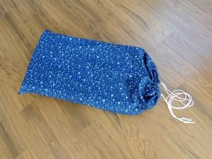 Sewed drawstring bag for portable propane stove