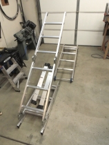 Started laying out new folding ladder design