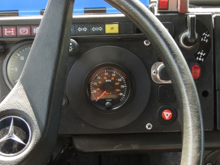 Wired and installed speedometer