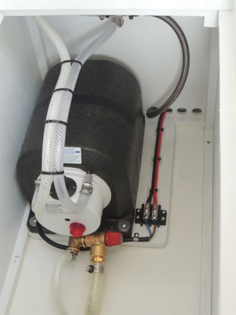 Installed hot water heater