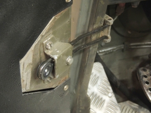 Installed Pinzgauer Door Retaining Spring and Roller