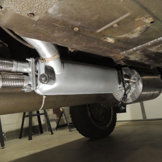 Installed Stainless Steel Exhaust System