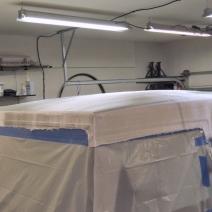 Making Custom Pinzgauer Cab Hardtop - Dry Fitting Fiberglass Cloth