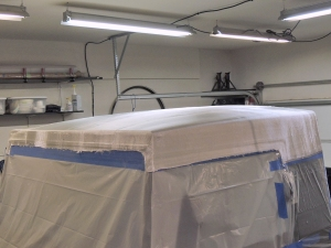 Making Custom Pinzgauer Cab Hardtop - Dry Fitting Fiberglass Cloth