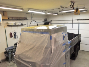 Making Custom Pinzgauer Cab Hardtop - Epoxy Saturated Fiberglass and Kevlar