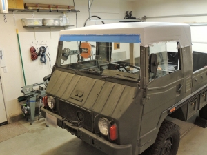 Making Custom Pinzgauer Cab Hardtop - Finished Bodyworking and Primed