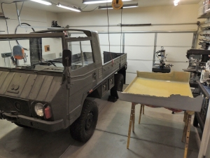 Making Custom Pinzgauer Cab Hardtop - Removed and Ready for Trim