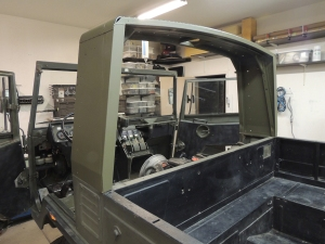 Pinzgauer B Pillar to Habitat Adapter Final Painted